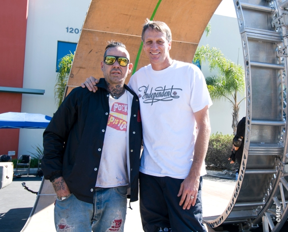 Duane Peters and Tony Hawk