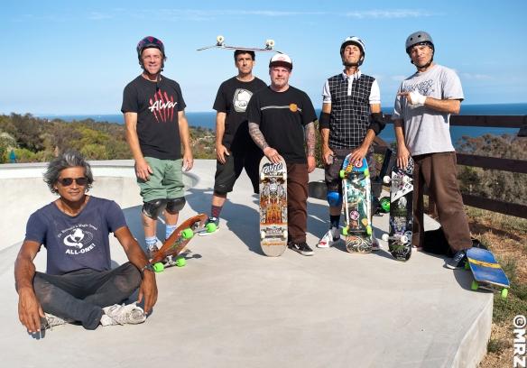 Pat Ngoho, Me, Lance Mountain , Eric Dressen, Brad Bowman, Bart
