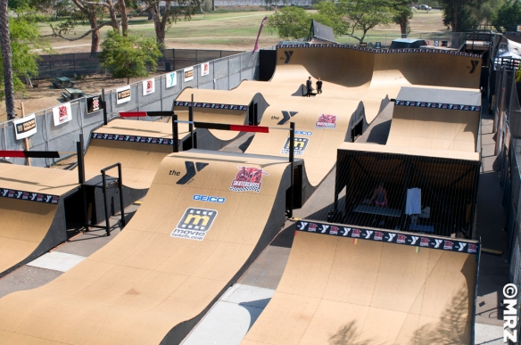 Skatercross Skateboard Racing course